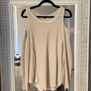 Free People open shoulder sweater size xsmall